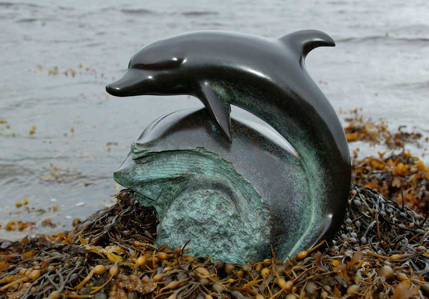 Laurence Broderick dolphin sculpture