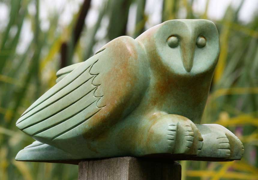 Laurence Broderick barn owl sculpture