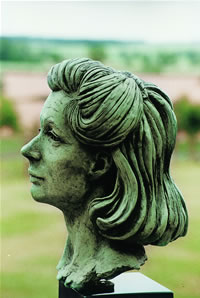 Alex Chancellor commissioned bronze bust by Laurence Broderick