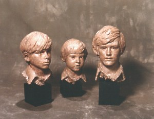 The Beckley boys commissioned bronze bust by Laurence Broderick
