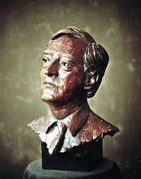 Lord Macdonald commissioned bronze bust by Laurence Broderick