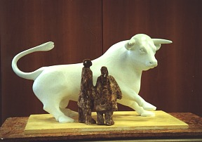 Model of The Birmingham Bull sculpture