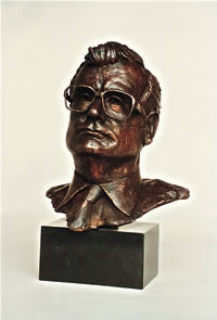 Philippe Chatrier commissioned bronze bust by Laurence Broderick