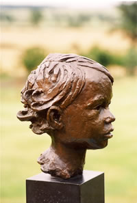 Roger commissioned bronze bust by Laurence Broderick