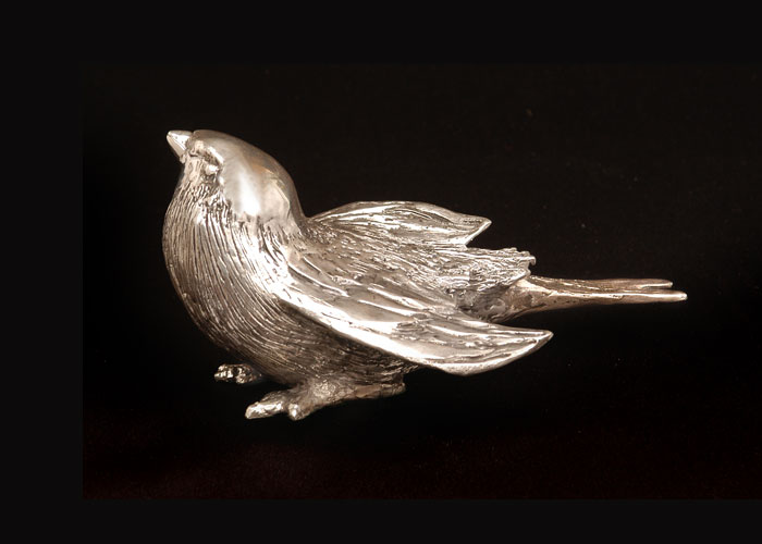 Laurence Broderick silver sculpture
