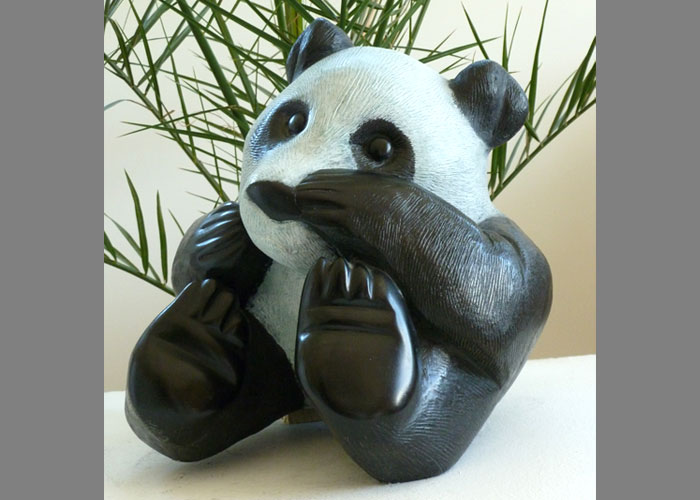 Laurence Broderick panda wildlife sculpture