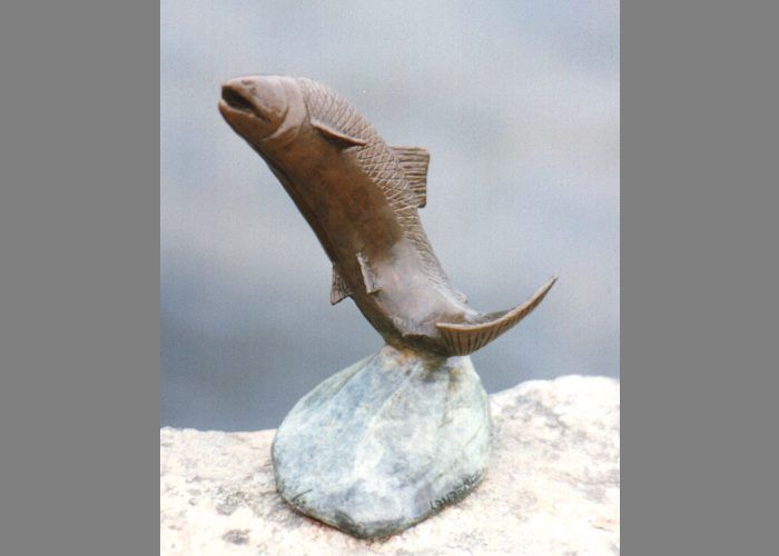 Laurence Broderick salmon fish wildlife sculpture